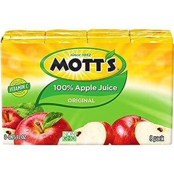 Mott's 100% Original Apple Juice, 6.75 fl oz boxes, 8 count (Pack of 4)