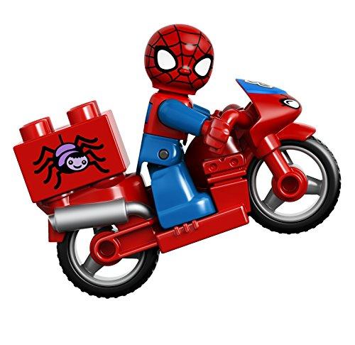 Lego Super Heroes Spider Man Web Bike Workshop Building Kit
