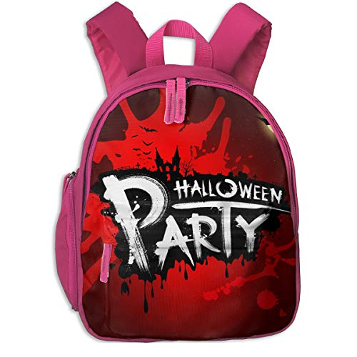 Halloween Party Red Blood Double Zipper Waterproof Children Schoolbag With Front Pockets For Kids Boy Girl ()
