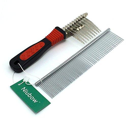 Niubow Pet Grooming Tools Stainless Steel Grooming Comb
