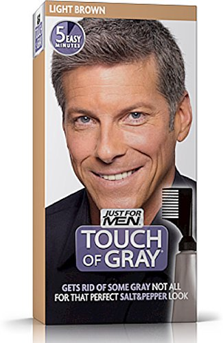 JUST FOR MEN Touch of Gray Hair Treatment T-25 Light Brown 1 Each (Pack of 12) by Just for Men