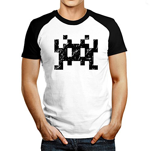 Space invaders Retro Raglan T-Shirt