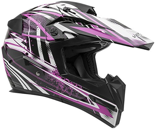 Vega Helmets MIGHTY X Kids Youth Dirt Bike Helmet – Motocross Full Face Helmet for Off-Road ATV MX Enduro Quad Sport, 5 Year Warranty (Pink Blitz (Road Vented Full Face Helmets)