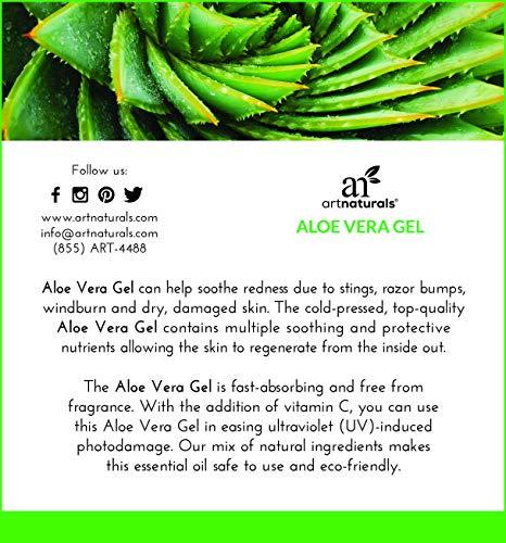 ArtNaturals Aloe Vera - Hair and 100% Pure Cold Pressed - Eczema, or Bites, Dry skin, Acne
