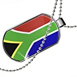 Dogtag South Africa Flag Dog tags necklace - Neonblond