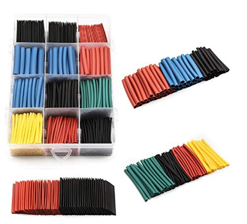 Heat Shrink Tubing 560 Pcs Electric Insulation Tube Heat Shrink Wrap Cable Sleeve 5 Colors 12 Sizes Rohs Certification UPZHIJI