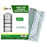 OGrow 4 Tier Greenhouse Replacement Cover, 19.3 x 27.2 x 62.2-Inch