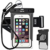 EOTW Waterproof Case Dry Bag with Military Class Lanyard; IPX8 Certified to 100 Feet for Kayaking Swimming Boating, Fits iPhone 6 6s Plus 5S SE, Galaxy S7 S6 S5, Blu LG Motorola NOKIA HTC Huawei Sony