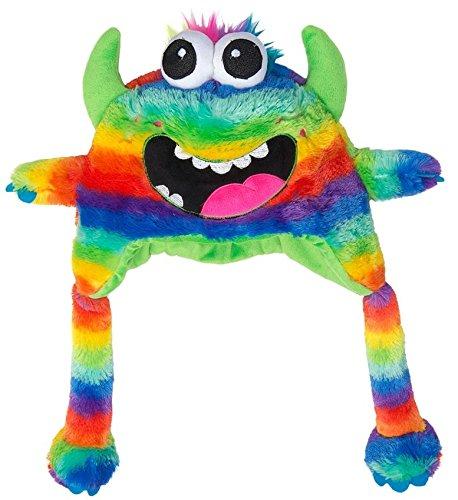 d6dea98ddfbb4 Multi Colour Rainbow Funny Monster Head Shaped Soft Fleece Winter Hat   Amazon.co.uk  Kitchen   Home