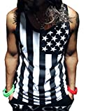 TESOON Oversize Distressed American Flag - USA Men's Tank Top T-shirt