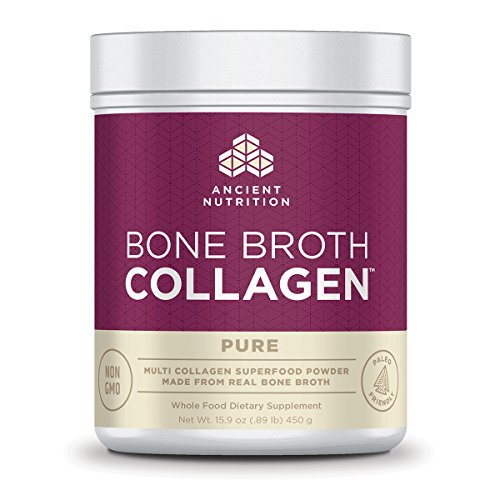 Ancient Nutrition Bone Broth Collagen Powder, 30 Servings of All-Natural Protein Powder Loaded with Bone Broth Co-Factors, 10g of Type I, II and III Collagen Per Serving (Pure) (Thrive Lifestyle Mix)