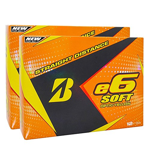 Bridgestone e6 Soft Yellow Golf Balls, 2 Dozen