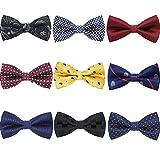 Kyпить AVANTMEN 9 PCS Pre-tied Adjustable Bowties for Men Mixed Color Assorted Neck Tie Bow Ties (9 Pack, Style 4) на Amazon.com