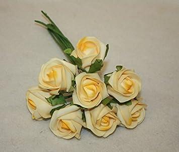 Amazon De Hochzeitsstrauss Knopfloch Blumen X8 Blass Gelb Gross