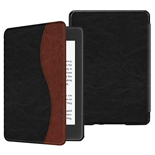 Fintie Slimshell Case for All-New Kindle Paperwhite (10th Generation, 2018 Release) - Premium Lightweight PU Leather Cover with Auto Sleep/Wake for Amazon Kindle Paperwhite E-Reader, Dual Color
