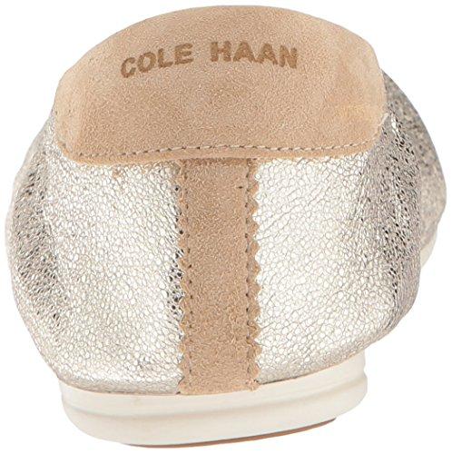 Cole Haan Studiogrand Ballet Convertible Plat Platino Glitter Métallique Cuir