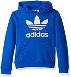 adidas Originals Kids' Big Originals Trefoil Hoodie, Blue/White, XL