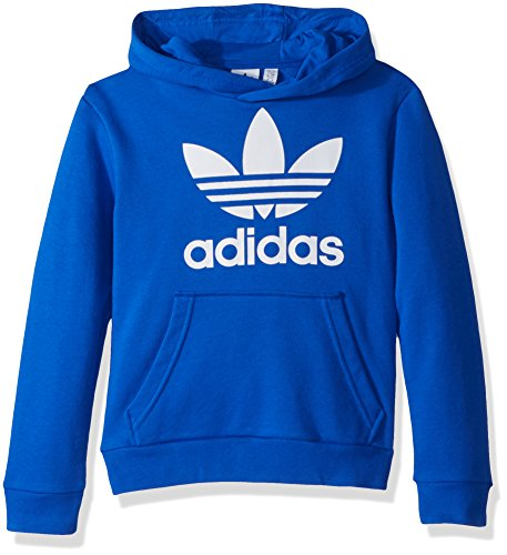 Blue Big Logo Hoodie - adidas Originals Big Kids Originals Trefoil Hoodie, Blue/White, M