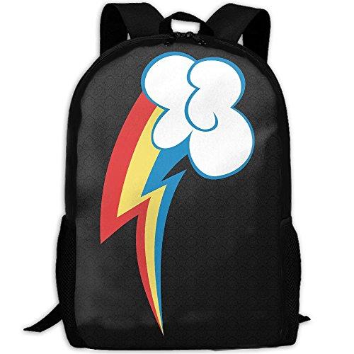 Rainbow Dash Cutie Mark Interest Print Custom Unique Casual Backpack School Bag Travel Daypack Gift