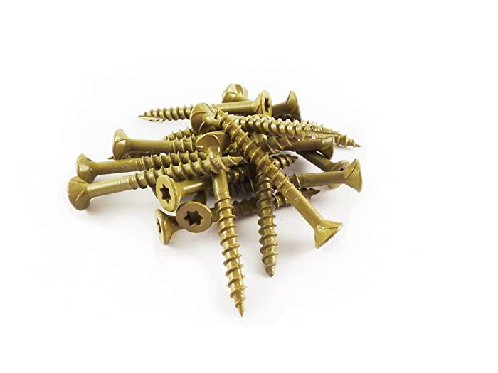 WoodPro Fasteners AP9X212-1 #9 by 2-1/2-Inch All Purpose Wood Construction Screws, T25, 1LB Net Weight