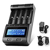 LCD Display Speedy Universal Battery Charger with Car Adapter