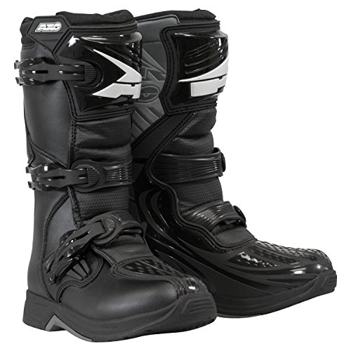 AXO unisex-child Drone Youth Boots (Black, Size 5) by AXO