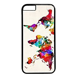 abstract world maps Custom Back Phone Case for iphone 6 4.7 PC Material Black -1218004 hjbrhga1544