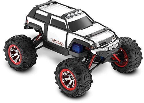 Mini 4wd Trucks - Traxxas Summit VXL: 4WD Electric Extreme Terrain Monster Truck with TQ 2.4 GHz Radio & TSM (1/16 Scale), White