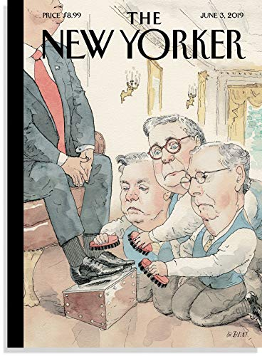 (The New Yorker Magazine (June 3, 2019) The Shining - President Donald Trump: Lindsey Graham, William Barr, and Mitch McConnell)