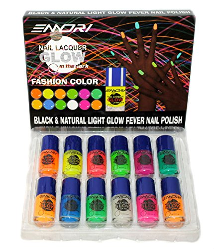 12 Color Glow In The Dark Nail Lacquer Nail Polish Combo
