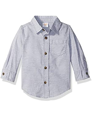 Baby Toddler Boys' Gry Nepped Woven Top