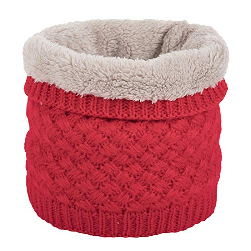 Leories Winter Neck Warmer Fleece Lined Infinity Scarf Thicken Windproof and Dust Skiing Scarf Face Mas