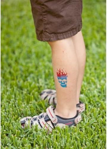Tatuajes temporales: Kit de plantillas Rock N Rollin para tatuajes ...