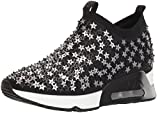 Ash Women's AS-Lighting Star Sneaker, Black/Silver, 36 M EU (6 US)