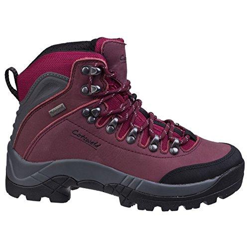 Cotswold Womens/Ladies Westonbirt Waterproof Hiking Walking Boots Red