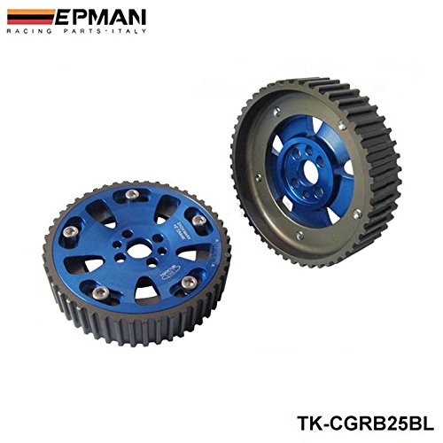 EPMAN Racing Adjustable Cam Gears Fit for Nissan Skyline Turbo RB20DET RB25DET RB26DETT (Blue, Pack Of 2)