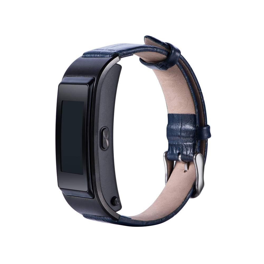 Band fü r Huawei TalkBand B5, Verstellbare Ersatz Uhrenarmband aus Echtem Leder Fitness Sport Armband Verstellbare Ersatz Uhrenarmband aus Echtem Leder Fitness Sport Armband (Blue) Bainuojia