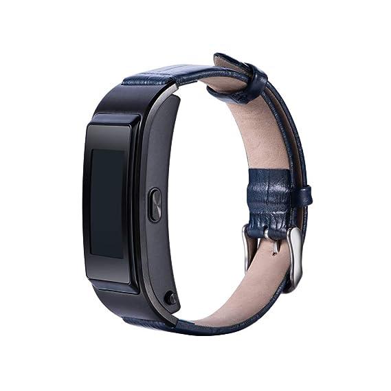 Banda para Huawei TalkBand B5, Ajustable para Reloj de Pulsera Piel auténtica Fitness Deporte de Pulsera, Negro: Amazon.es: Deportes y aire libre