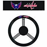 Fremont Die NHL Poly-Suede Steering Wheel Cover, One Size, Washington Capitals