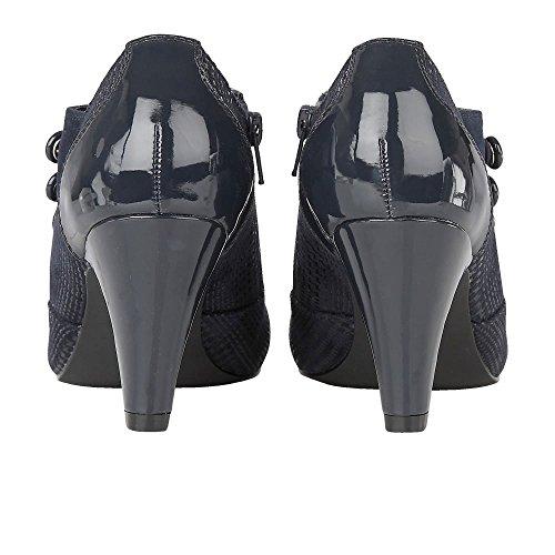 Zapato Azul Marina Botas Dolley Tacón Marino Lotus Impresión A7HgHv