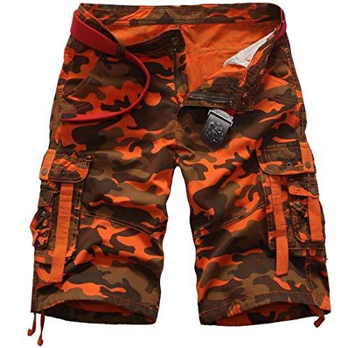 Unita Di Estivi 7 Con Vintage Da Tinta Cargo Lavoro Tasche Base Pantaloni Uomo Abbigliamento Spiaggia Festivo Pantaloncini Corti Esterni OUwafTnOx