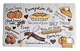 Thanksgiving Kitchen Mat Pumpkin Pie Cushion Skid-Resistant 18 x 30 inches