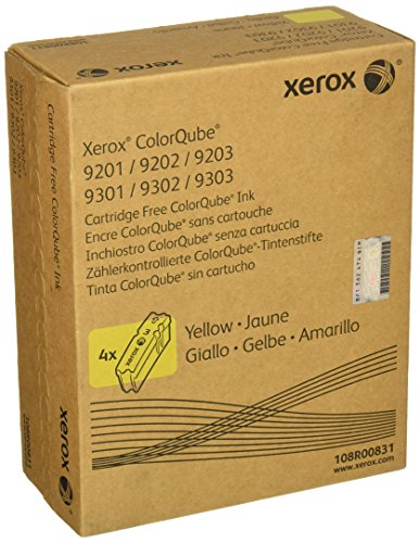 - Xerox 108R00831 Color-Qube  Solid Ink, Yellow (4 Pack)
