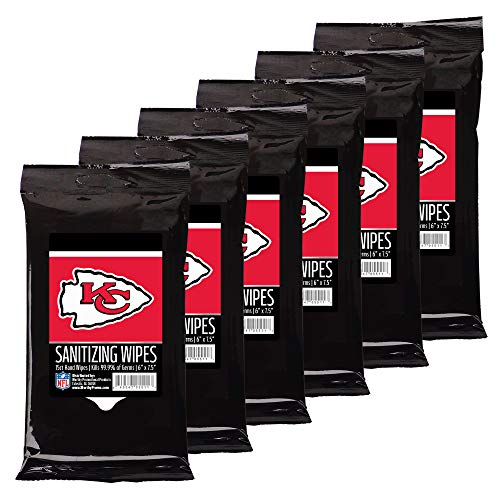 Worthy Promo NFL Kansas City Chiefs Party Supplies Sanitizing Wipes -
