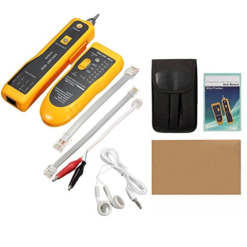 DricDoda Multifunction Wire Tracer, Professional RJ45 RJ11 Handheld Cable Locator Line Finder Cable Tester with Tool Kit for Network Cable Collation, Telephone Line Test, Continuity Checking by DricRoda (Image #6)