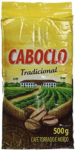 Roast n' Ground Coffee From Brazil - Café Torrado e Moido - Caboclo 17.60oz (500g) GLUTEN FREE