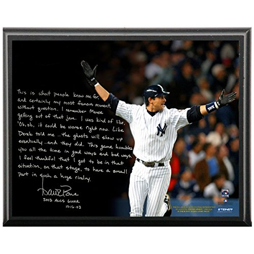 Aaron Boone Facsimile 2003 Alcs Game 7 Walk-off Metallic 8 Inches By 10 Inches Story Plaque