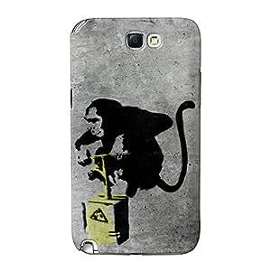 Banksy Monkey Detonador completa 3d de alta calidad Printed Case, funda carcasa para Samsung Galaxy Note 2por Banksy