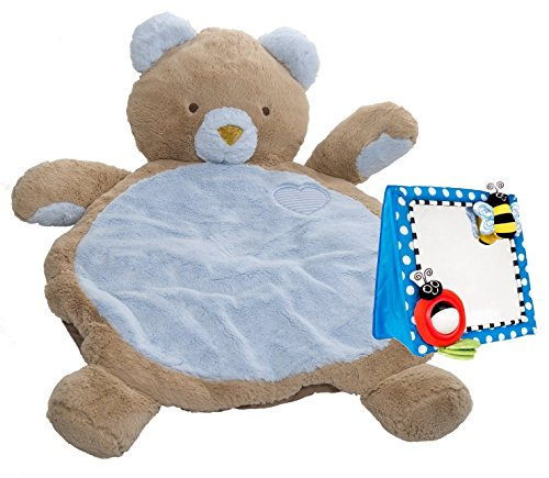 Mary Meyer Bestever Baby Mat with Floor Mirror, Blue Bear