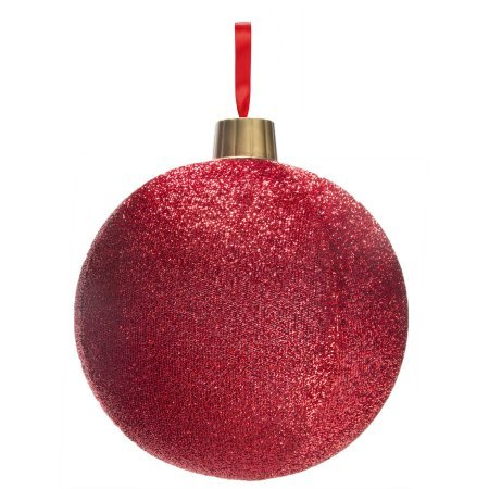 holiday time christmas lights 12 red tinsel ornament l christmas decoration